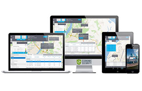 Satellite monitoring of transport of people | Online control